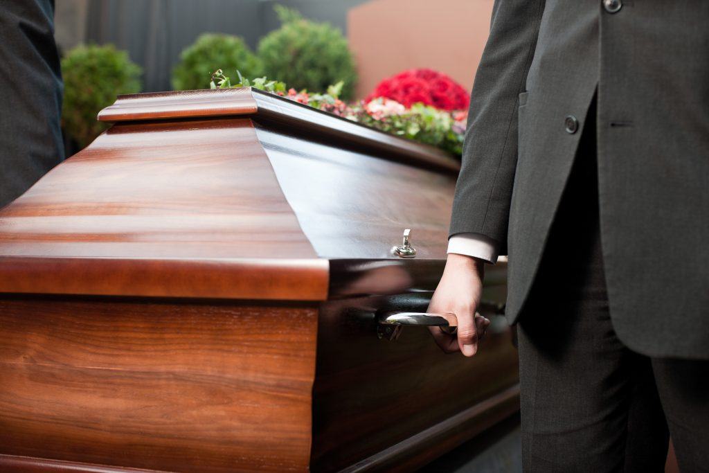 Funeral Procession with Casket